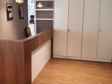 bespoke office reception desk cupboards